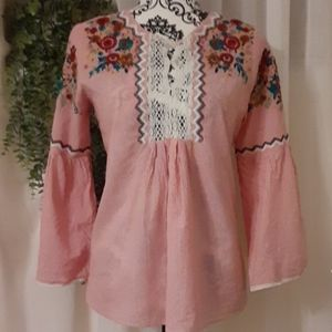 💐Zara Basic collection💐 boho embroidered blouse